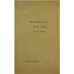 "Rare 1876 Offprint on Somer Islands ""Hog Money"""