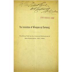 A Rare Monograph on Wampum
