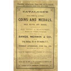 The 1863 Muhlenberg Sale
