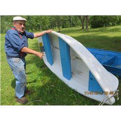 White boat , also sail  less engine