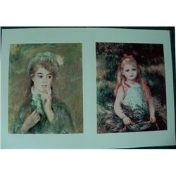 2) Renoir Giclees Signed and Numbered in the Print