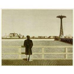 Max Ferguson CONEY ISLAND SELF PORTRAIT Signed Art