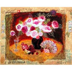 Alexander & Wissotzky S/N Serigraph Love and Roses Art