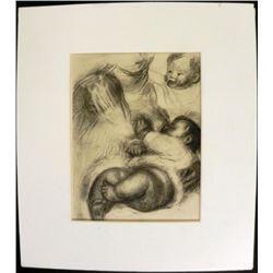 Engraving Pierre-Auguste Renoir Print Drawing