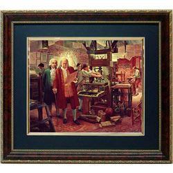 Mort Kunstler Framed Art Print Benjamin Franklin