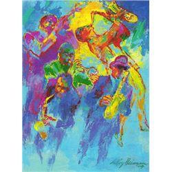 "LeRoy Neiman Signed Serigraph Art Print ""Jazz Horns"""