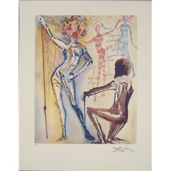 Salvador Dali Ballet of Flowers Surrealistic Art Print
