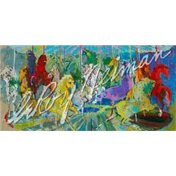 Carousel Filled with Horses LE Signed LeRoy Neiman