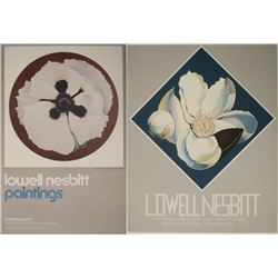 2 Lowell Nesbitt Art Exhibit Posters Loblolly, Poppy