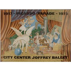 Pablo Picasso: Parade, City Center Joffrey Ballet Print