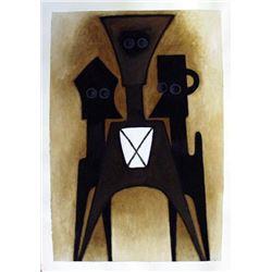 Ephrem Kouakou: Untitled VIII (2 Black Figures Brown)