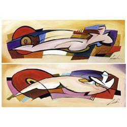 Alfred Gockel Art Prints Racey Nude I and II