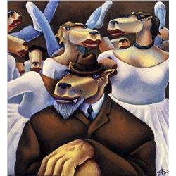 Markus Pierson 'COYOTE PORTRAIT OF DEGAS' Canvas