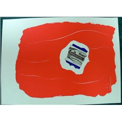 Robert Motherwell Tricolor Lithograph Signed in Plate