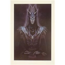 Winter's King Dawn Wilson Print Art Dark Evil Snow