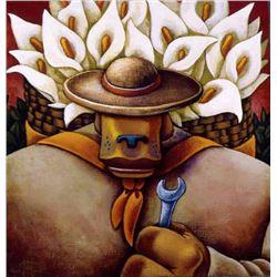 Markus Pierson 'COYOTE PORTRAIT OF RIVERA' Canvas