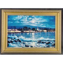 Framed Sipos KAILUA MOON Gorgeous Hawaii Art Print