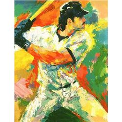 Double Signed Mike Piazza LeRoy Neiman LE Art Print