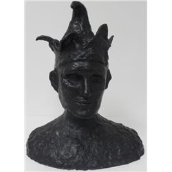 Head of Jester Bronze Sculpture after Pablo Picasso