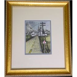 Bernard Buffet Lithograph The Road Framed Art Print
