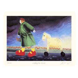 Mackenzie Thorpe 'Walking the Horse'