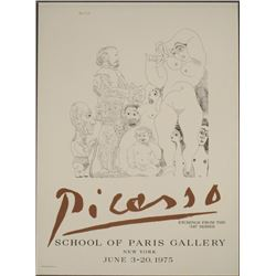 Pablo Picasso 347 Series Etchings Exhibition Art Print