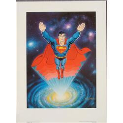 Signed Curt Swan Print Superman Another Dimension