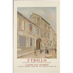 Maurice Utrillo : Rue Cortot a Montmartre Art Print