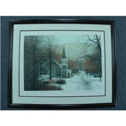 """""""First Snow"""" by Harold Altman, Lithograph #112 of 285"""