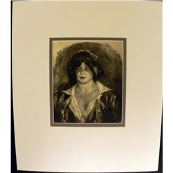 Pierre-Auguste Renoir Engraving Bust of a Woman