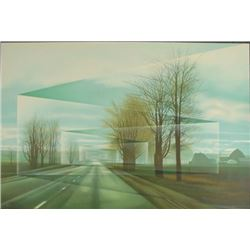 Frank Licsko ROADS Signed Surreal Landscape Art Print