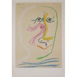 Homage a Rene Char-avant lettre 1969 Picasso Lithograph