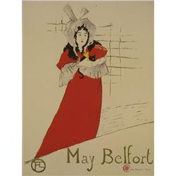 Henri de Toulouse-Lautrec : May Belfort Art Print