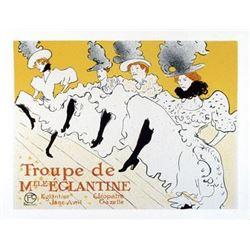 Toulouse-Lautrec Troupe de Mile Elgantine Lithograph