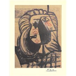 Pablo Picasso Numbered Offset Art Print Newspaper