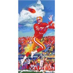 Double Signed LeRoy Neiman Jerry Rice Sports Art Print