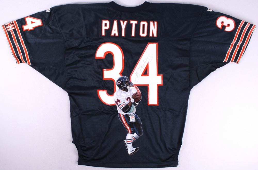 best authentic 615af ce180 Walter Payton Signed Bears Hand-Painted Vintage Authentic ...