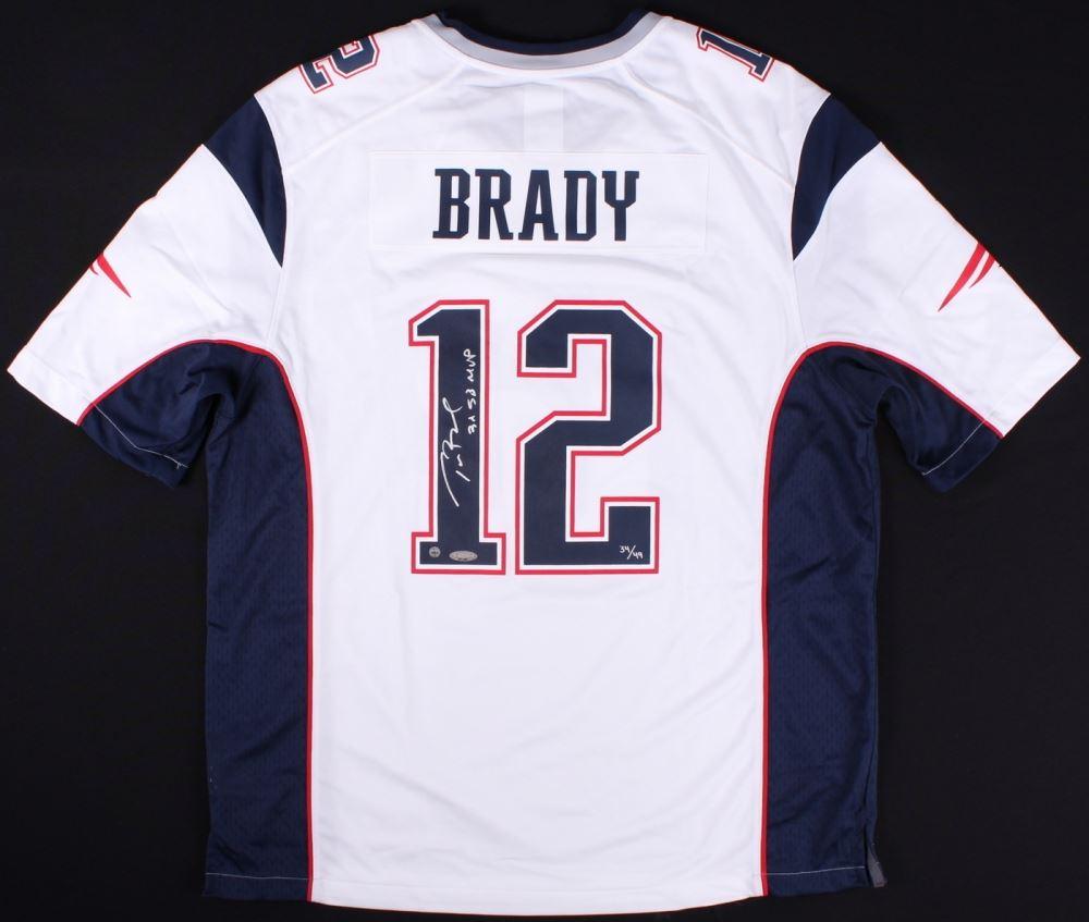 8ece6326043 Image 1 : Tom Brady Signed Patriots LE Jersey Inscribed