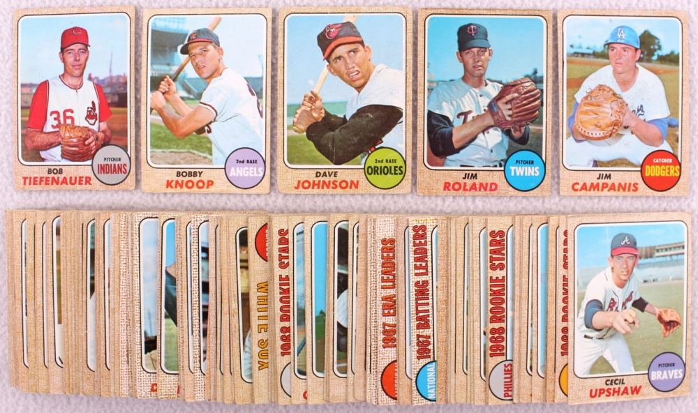 Lot Of 109 1968 Topps Baseball Cards With 500 Frank