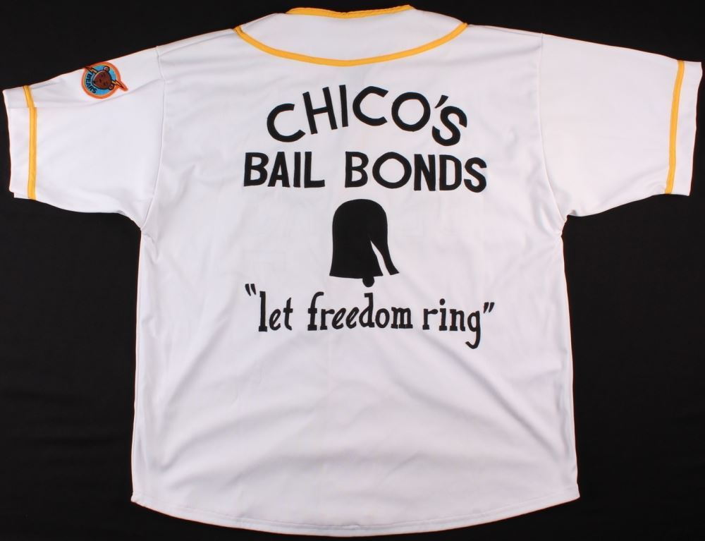 """Chico's Bail Bonds """"Let Freedom Ring"""" Bears Custom Stitched Jersey (XL)"""