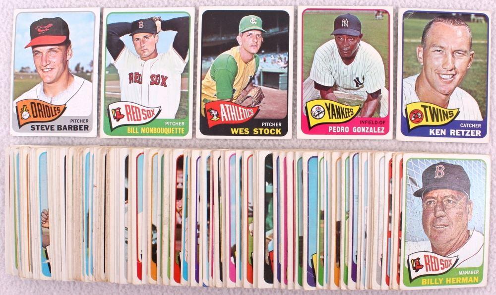 Lot Of 126 1965 Topps Baseball Cards With 245 Joe Pepitone 355