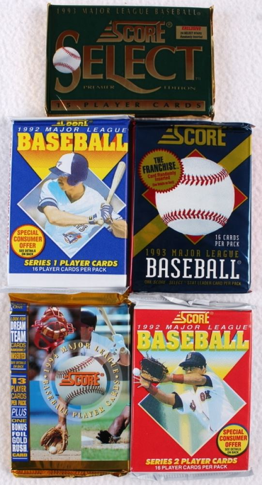 Lot Of 87 Packs Of 1988 1994 Score Baseball Cards