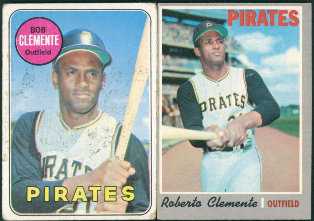 Lot Of 2 Roberto Clemente Baseball Cards With 1970 Topps