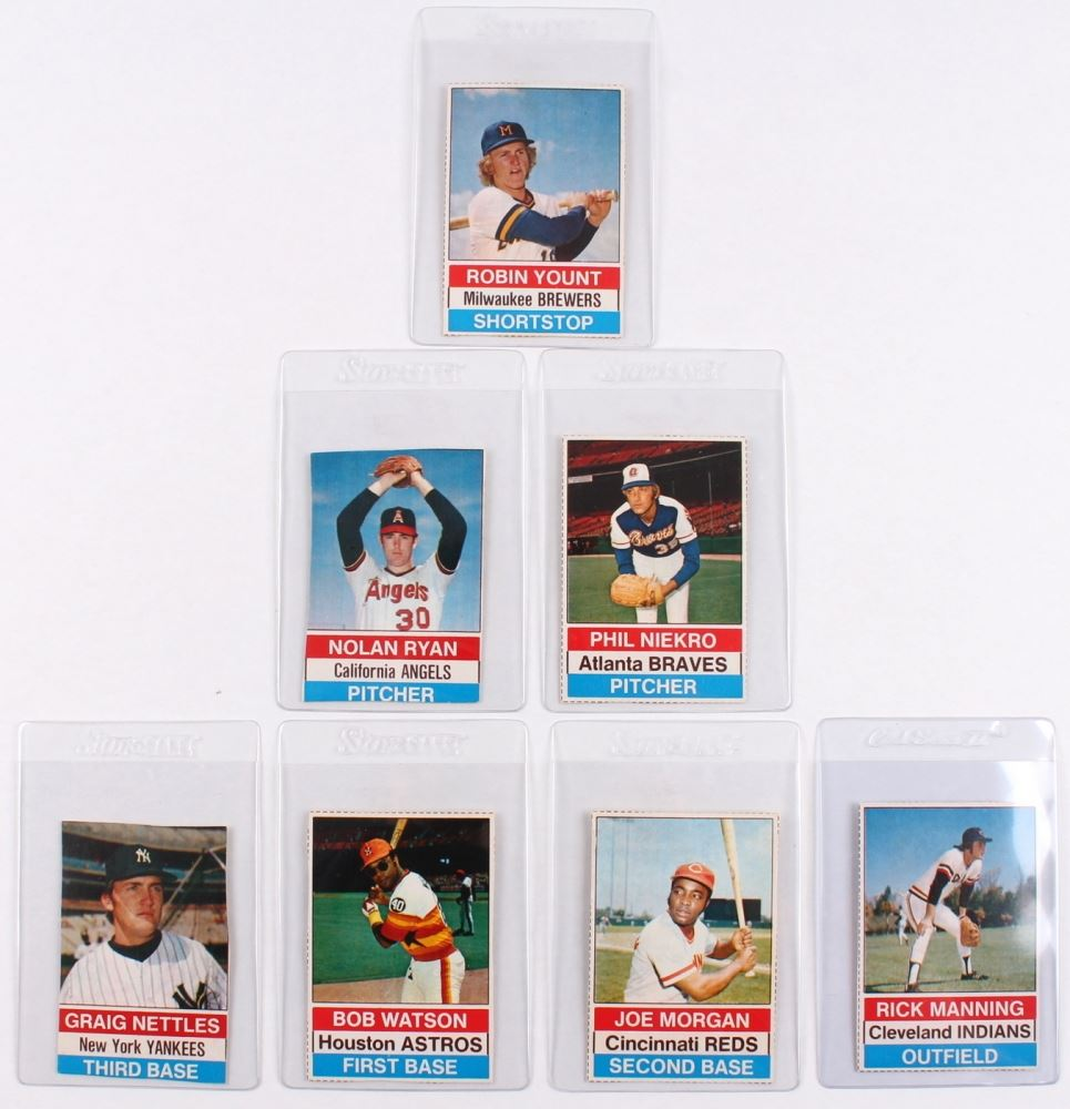 Lot Of 7 1976 Hostess Baseball Cards With 11 Robin Yount