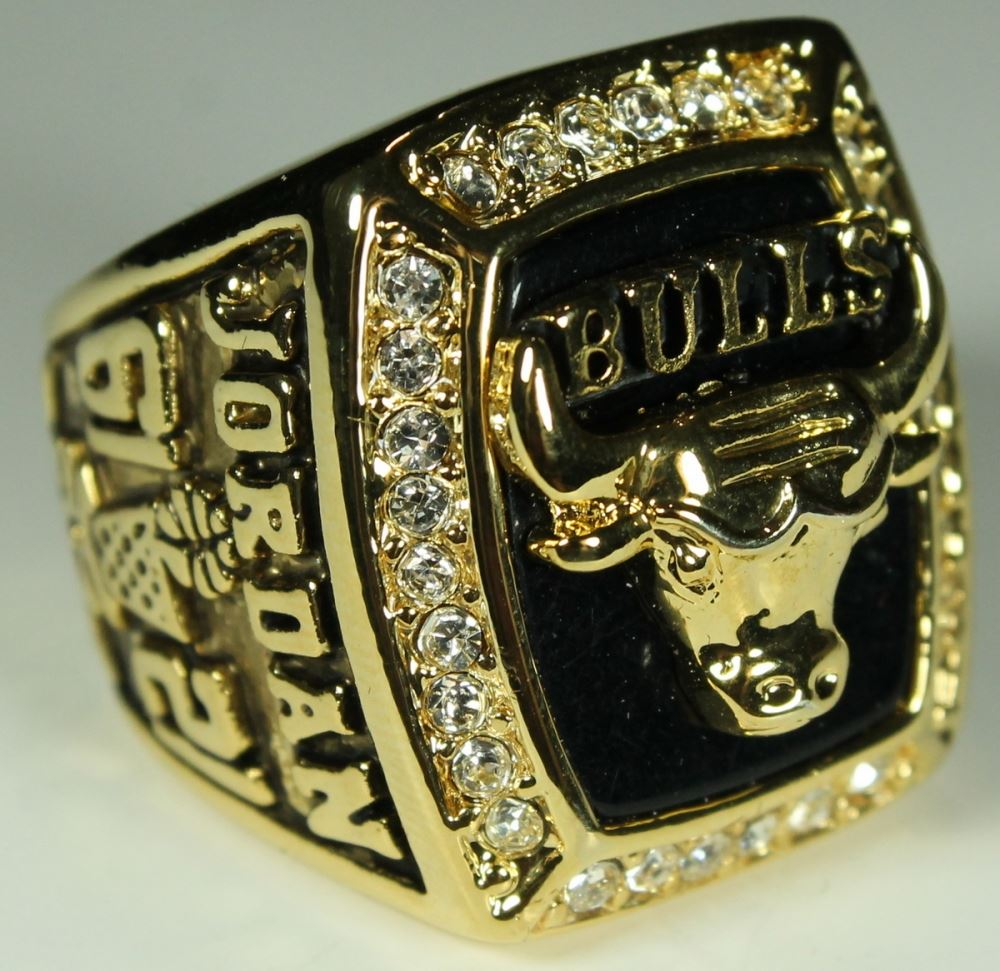 72cc70d1a88c24 ... Image 2   Michael Jordan Chicago Bulls High Quality Replica 1991 NBA  World Champions Ring ...