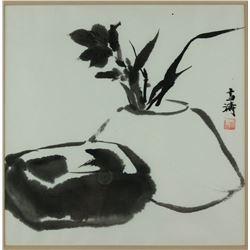 Chinese WC Painting Framed Wang Xuetao 1903-1982