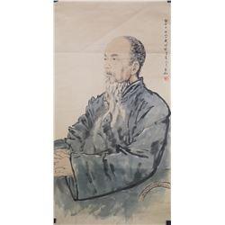 Chinese WC Old Man Jiang Zhao He 1904-1986