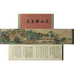 Chinese WC Landscape Handscroll Qiu Ying 1494-1552
