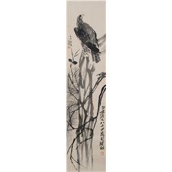 Ink Painting of Eagle Xue Bei Hong & Qi Baishi