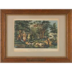 """Currier and Ives Small Folio Print, 9 ½ """" x 14 ¼"""""""